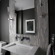 Modern Powder Room by Jodie Rosen Design