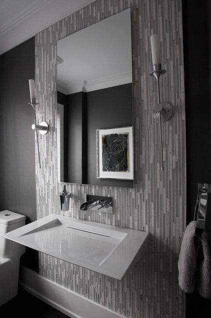 Modern Powder Room by Jodie Rosen Design