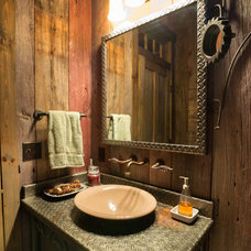 Rustic Powder Room by Patterson and Smith Construction, Inc.