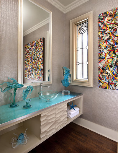 Contemporary Powder Room by Mary Anne Smiley Interiors