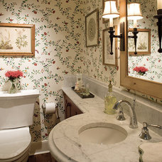 Traditional Powder Room by Penza Bailey Architects