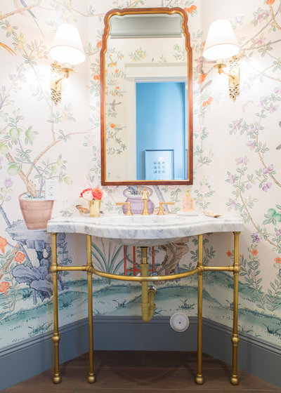 Traditional Powder Room by Caitlin Wilson Design
