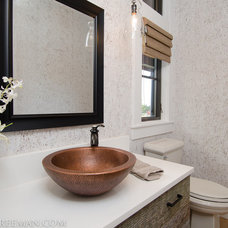 Traditional Powder Room by JPID Construction & Design LLC