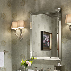 traditional powder room by Alan Design Studio