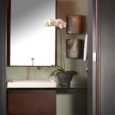 Contemporary Powder Room by Studio D - Danielle Wallinger