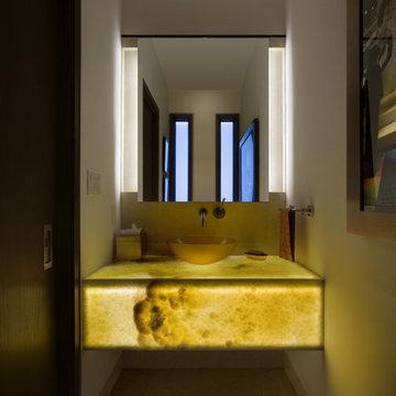 Stunning Powder Room Lighting