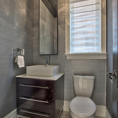 contemporary powder room by Darlene E Shaw Interior Concepts