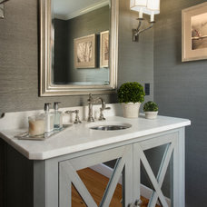 traditional powder room by Pinney Designs