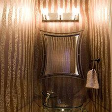Contemporary Powder Room by Contour Interior Design, LLC