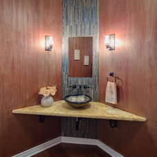 Eclectic Powder Room by Gina Bon, Airoom Architects & Builders LLC