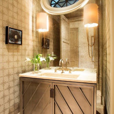 Traditional Powder Room by Chancey Design