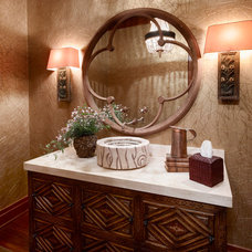 Contemporary Powder Room by lisa limited