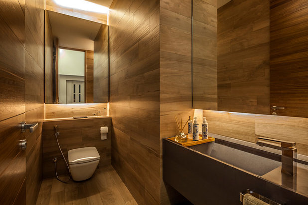 Contemporary Powder Room by Wallflower Architecture + Design