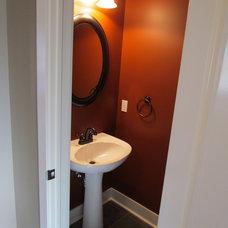 Traditional Powder Room by Meadow Ridge Builders, LLC