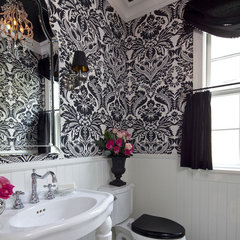 traditional powder room by Martha O'Hara Interiors