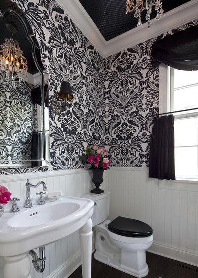 Traditional Powder Room by Martha O'Hara Interiors