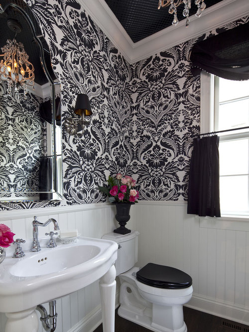 black and white bathroom home design ideas pictures remodel and decor. Black Bedroom Furniture Sets. Home Design Ideas