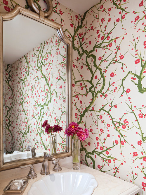 Cherry Blossom Wallpaper on red bedroom design ideas