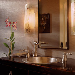 mediterranean powder room by Susan Cohen Associates, Inc.