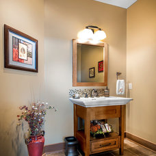 Traditional Powder Room by Rezac Construction