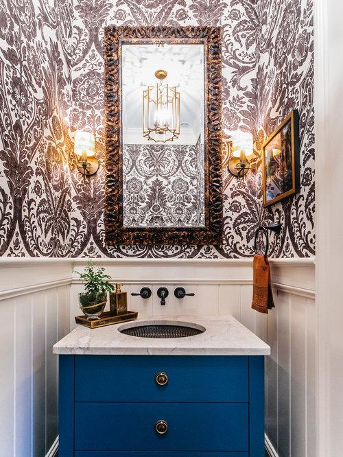 kleine g stetoilette g ste wc mit blauen schr nken ideen f r g stebad und g ste wc design. Black Bedroom Furniture Sets. Home Design Ideas