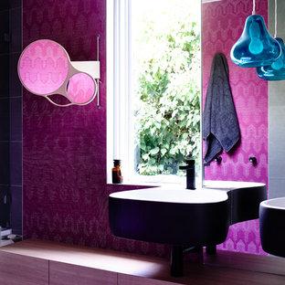 Immagine di un bagno di servizio boho chic