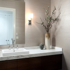 Contemporary Powder Room by Erica Winterfield Design