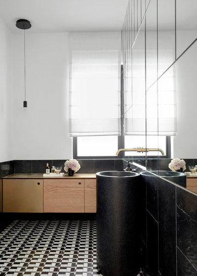 Modern Powder Room by Luigi Rosselli Architects