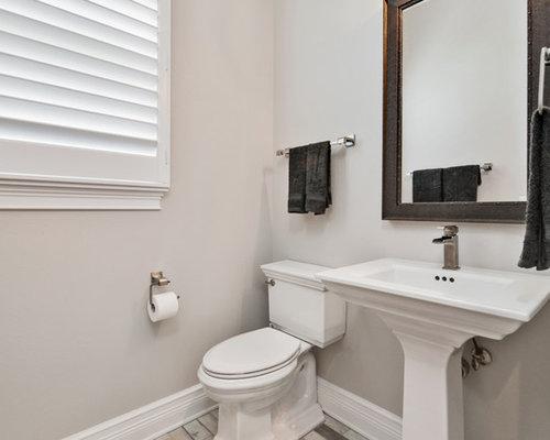 Mittelgro e g stetoilette g ste wc mit vinylboden ideen f r g stebad und g ste wc design - Fuayboden fliesen ...