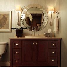 Contemporary Powder Room by Emery & Associates Interior Design