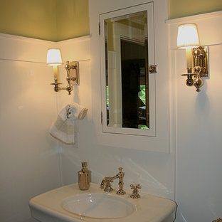 Example of a classic powder room design in Seattle