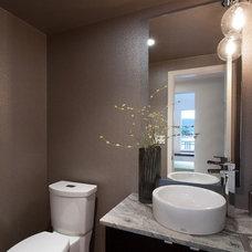 Contemporary Powder Room by Trish Knight Design