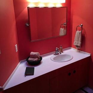 Idée de décoration pour un WC et toilettes minimaliste.