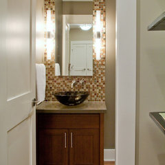 contemporary powder room by Synthesis Design Inc.