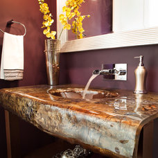 Eclectic Powder Room by kbcdevelopments