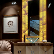 Eclectic Powder Room by Domiteaux + Baggett Architects, PLLC
