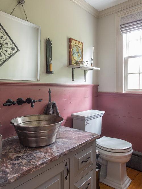 landhausstil g stetoilette g ste wc mit profilierten schrankfronten ideen f r g stebad und. Black Bedroom Furniture Sets. Home Design Ideas