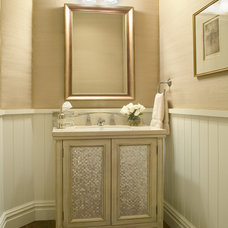 Contemporary Powder Room by Slifer Designs