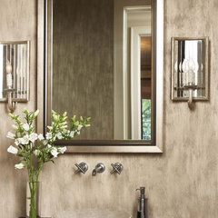 contemporary powder room by Linda McDougald Design | Postcard from Paris Home