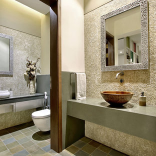 75 most popular cloakroom with grey cabinets and brown