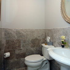 Traditional Powder Room by RJK Construction Inc