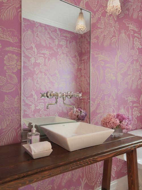 G stetoilette g ste wc mit rosa wandfarbe ideen f r g stebad und g ste wc design - Rosa wandfarbe ...