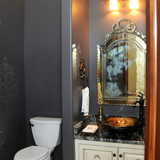 Eclectic Powder Room by Inspired Interiors