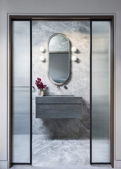 Contemporary Powder Room by iSpace Solutions