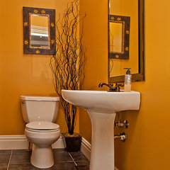 eclectic powder room by Imagine Your Home Inc