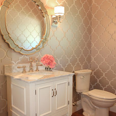 Traditional Powder Room by Bria Hammel Interiors