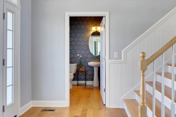 Traditional Powder Room by Schell Brothers