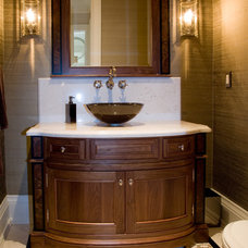 Traditional Powder Room by Carey Mudford Interior Design