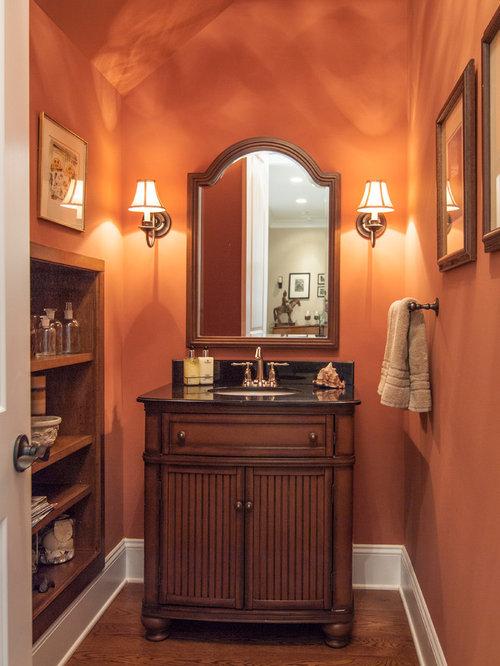 37 Burnt Orange Powder Room Design Ideas & Remodel Pictures   Houzz