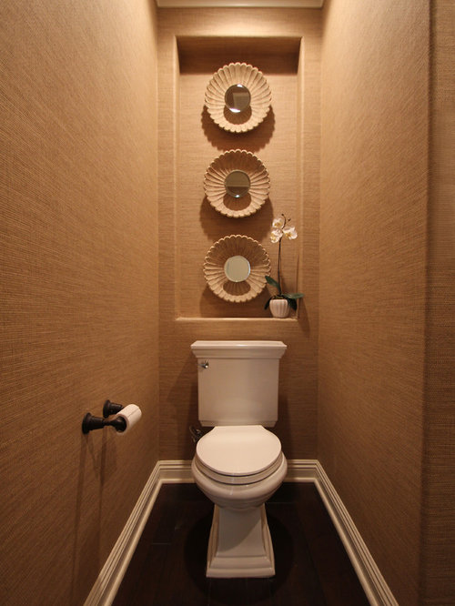 Toilet room houzz for Tiny toilet ideas